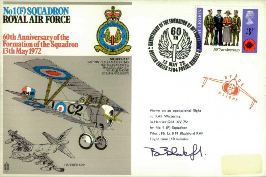 No 1(F) Squadron cover Sgd B M Blackford