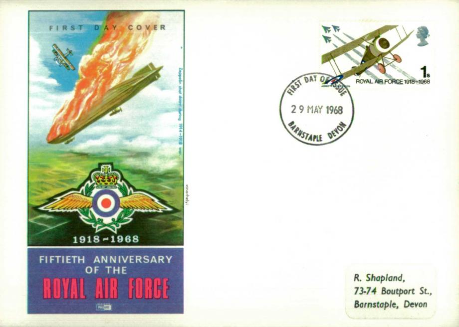 50th Anniversary of The RAF Airship Zeppelin Shot Down Cover