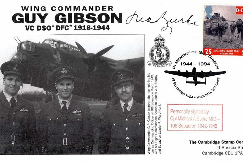 106 Squadron cover Sgd M A Burke of 106 Sq
