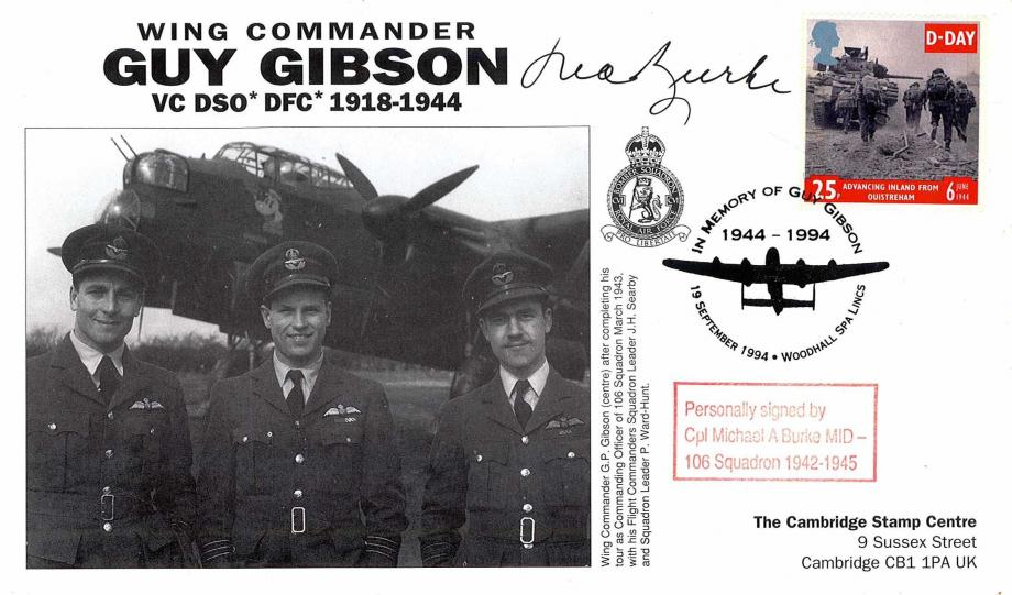 106 Squadron cover Sgd M A Burke of 106 Sq