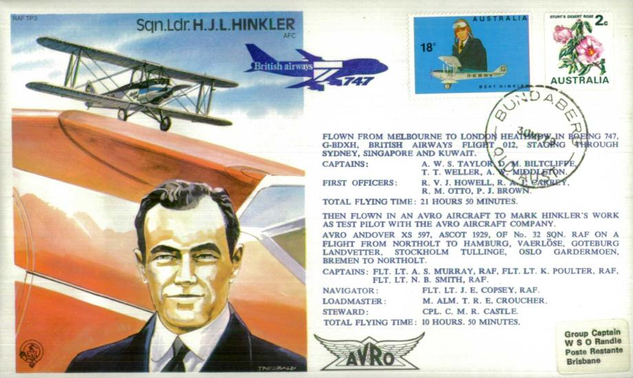 H J L Hinkler the Test Pilot cover