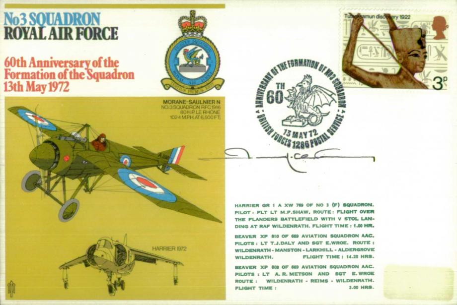 No 3 Squadron cover Sgd by Pierre Clostermann of 3 Squadron who destroyed 33 enemy aircraft