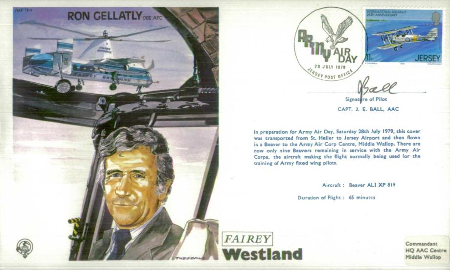 Ron Gellatly the Test Pilot cover Sgd J E Ball