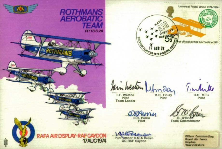 Rothmans Aerobatic Team cover