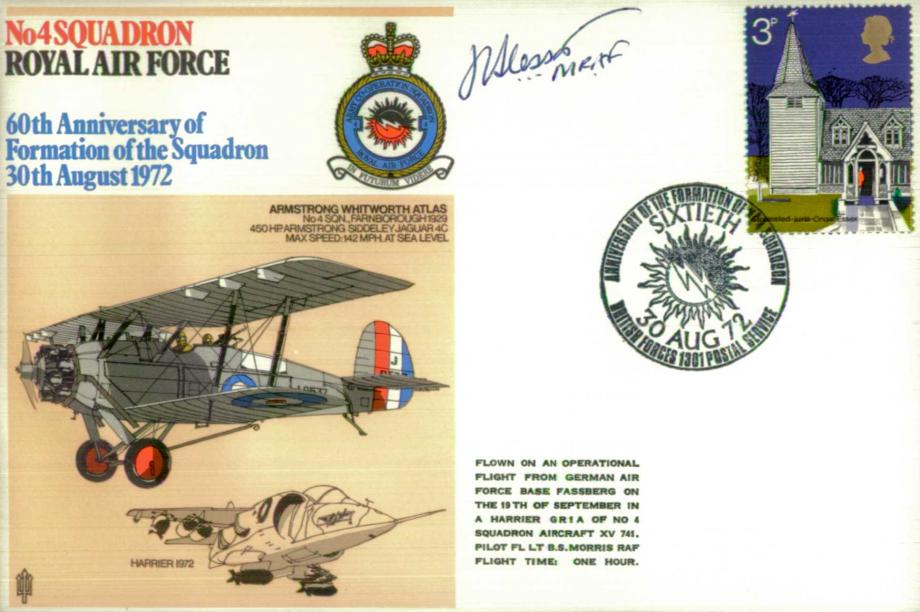 No 4 Squadron cover Signed by MRAF Sir John Slessor