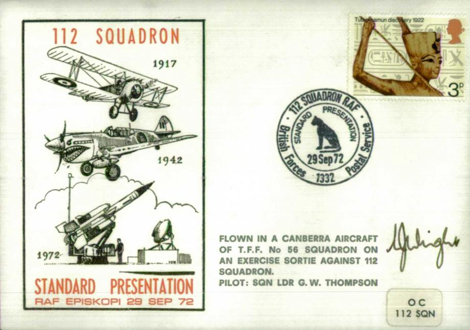 Presentation of Standard to 112 Squadron cover Sig unknown