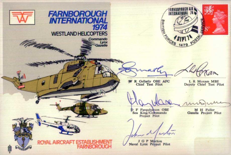 Farnborough International 1974 cover Team signed