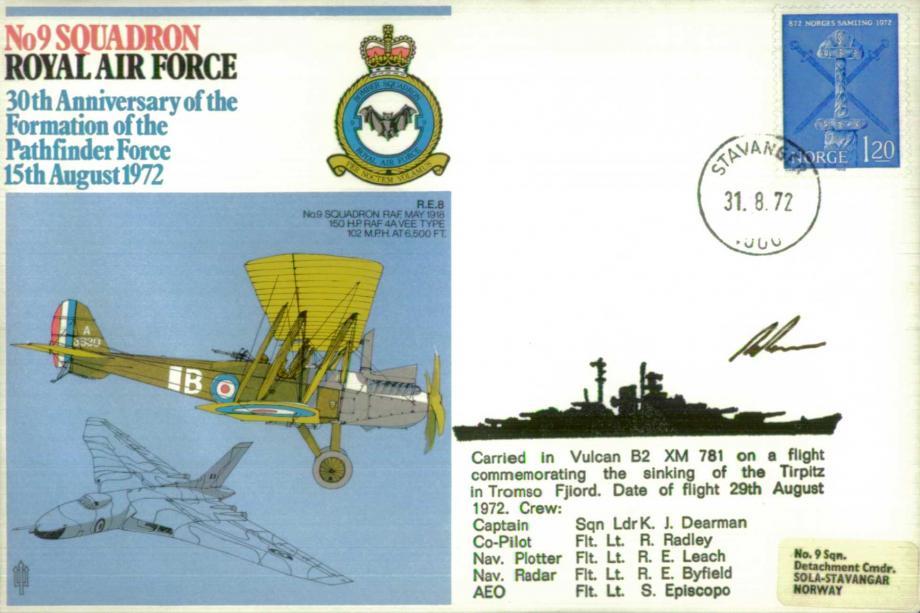 No 9 Squadron cover Signed by the captain K J Dearman