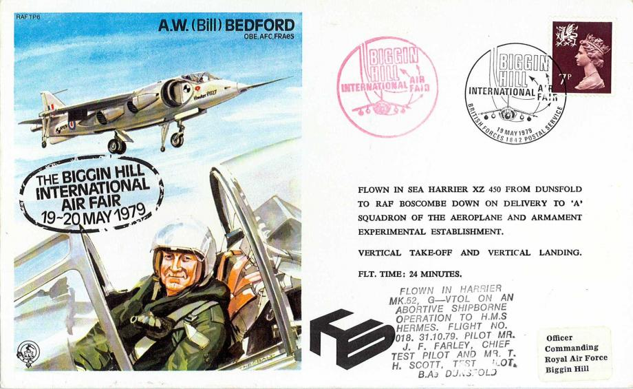 A W Bedford the Test Pilot cover