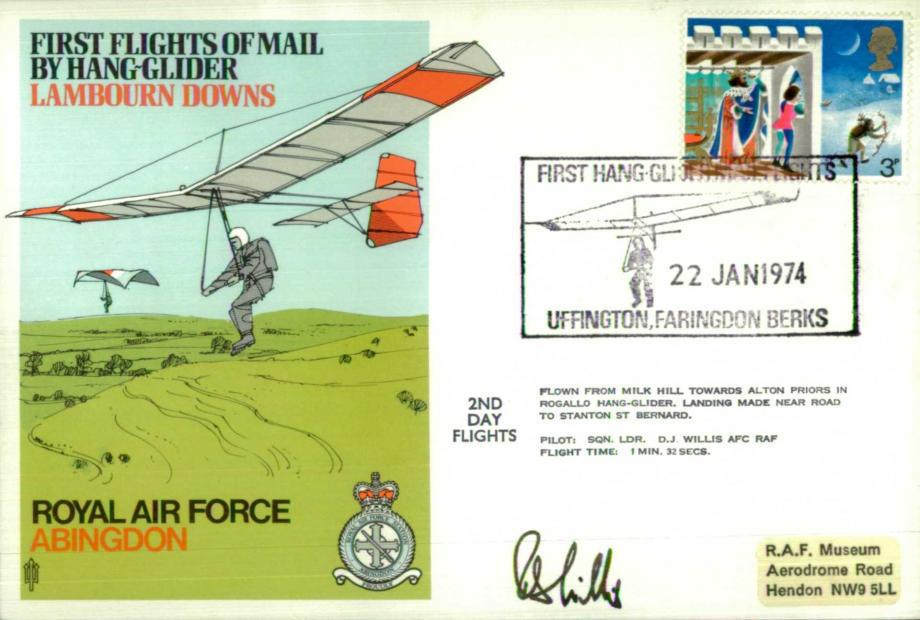 RAF Abibgdon cover Pilot signed by Sq L D J Willis