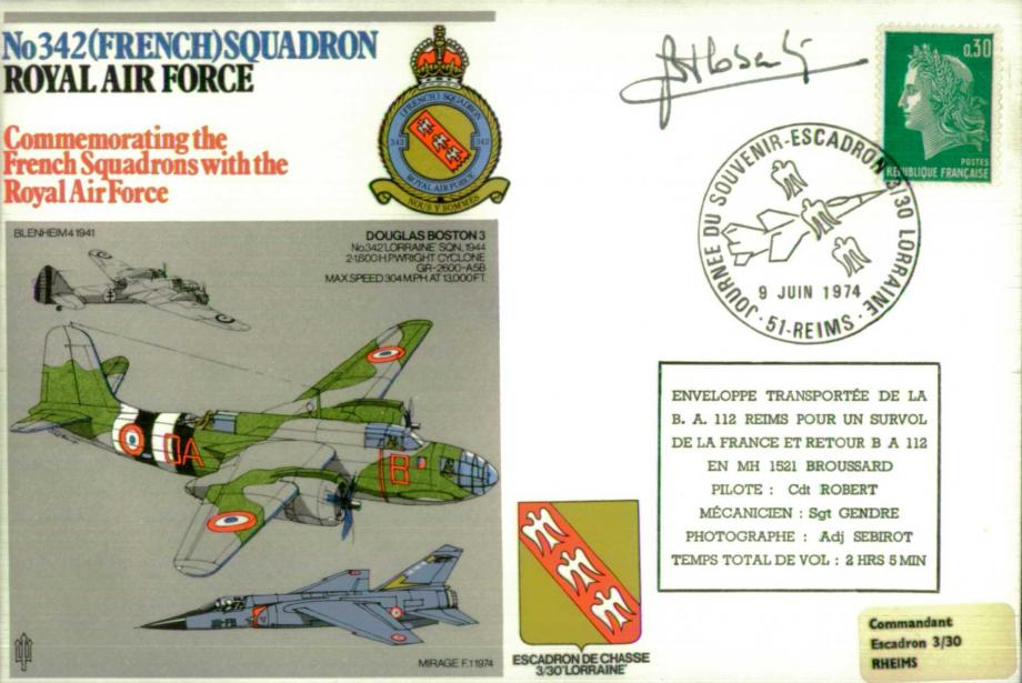 No 342(French) Squadron cover Sgd Cdt Robert