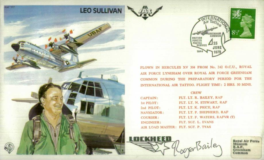 Leo Sullivan the Test Pilot cover Sgd R Bailey