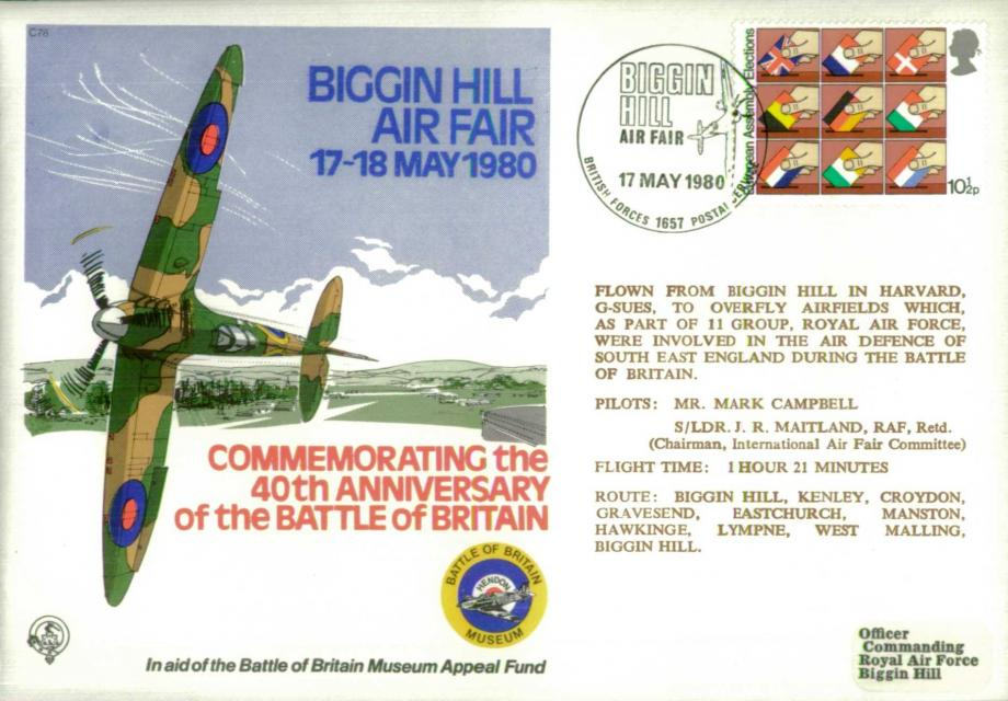 Battle of Britain Cover Biggin Hill Air Fair 1980
