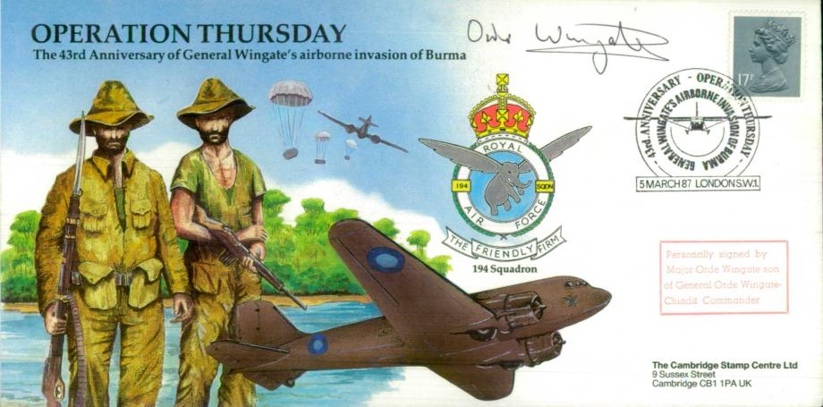 Operation Thursday cover Sgd Major Orde Wingate