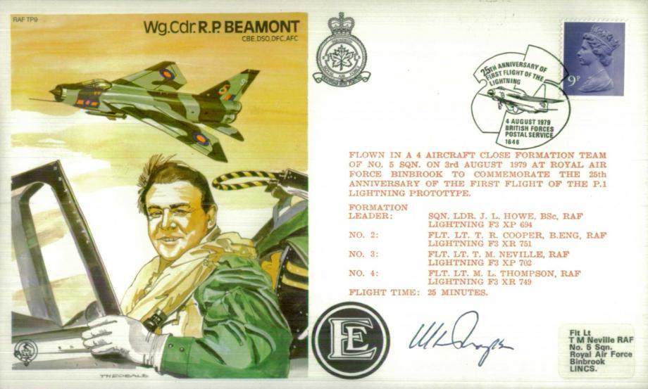 R P Beamont the Test Pilot cover Sgd M L Thompson