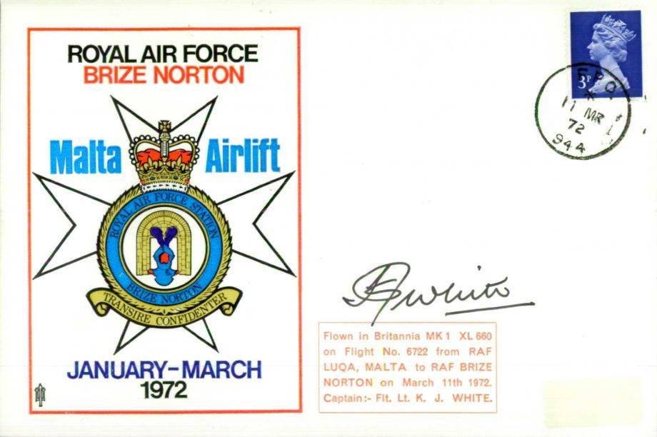 RAF Brize Norton cover Sgd K J White