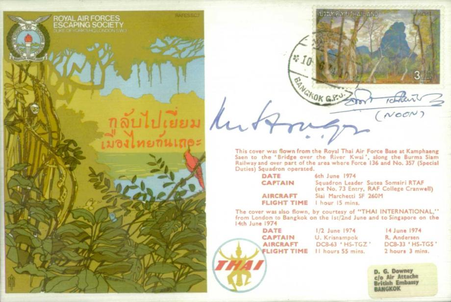 River Kwai cover Sgd Sir Lewis Hodges and Noon