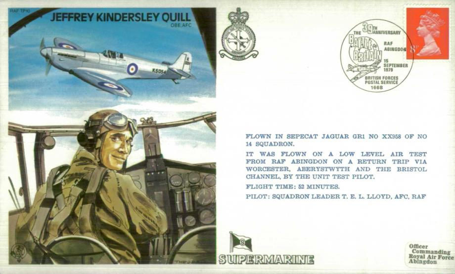 Jeffrey Kindersley Quill the Test Pilot cover Sgd