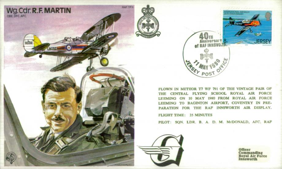Wg Cdr R F Martin the Test Pilot cover