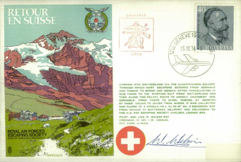 Retour en Suisse cover Sgd pilot W Wilson