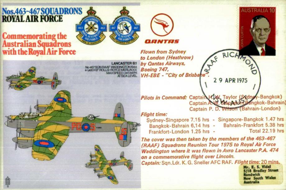 Nos 463-467 Squadrons cover