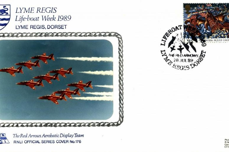 Red Arrows cover Lyme Regis 1989