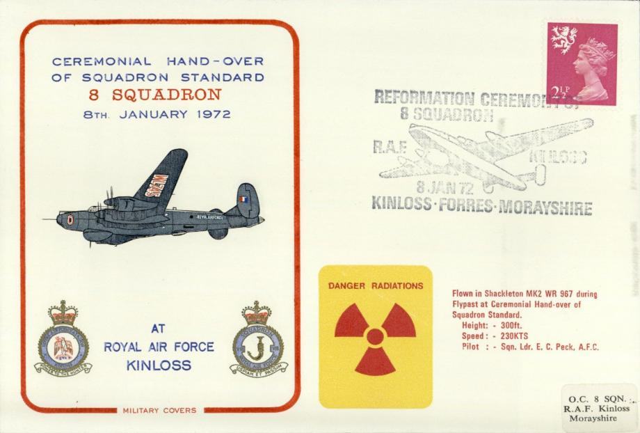 Reformation of 8 Squadron cover