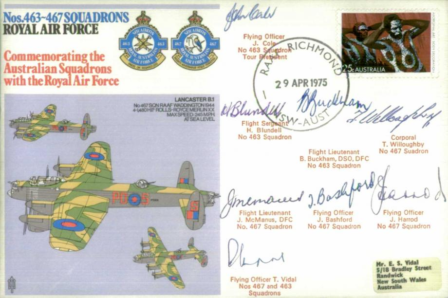 Nos 463-467 Squadrons cover Sgd 8 former Squadron members
