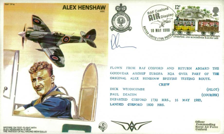 Alex Henshaw the Test Pilot cover Sgd courier