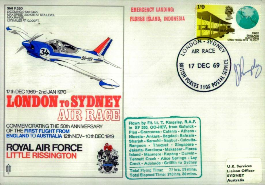 RAF Little Rissington cover Sgd pilot T Kingsley