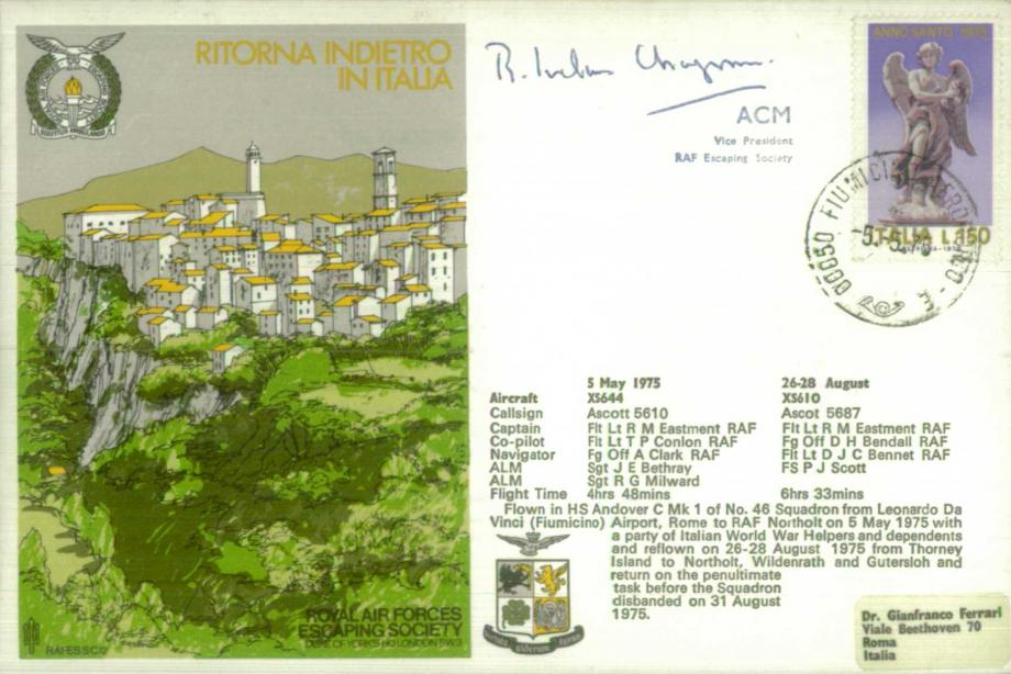 Ritorna Indietro In Italia cover Sgd Sir R Ivelaw-Chapman