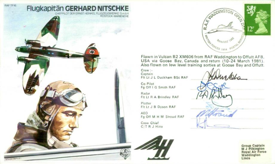 Flugkapitan Gerhard Nitschke the Test Pilot cover Sgd crew of 6