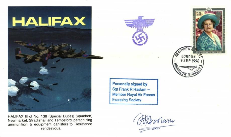 Halifax cover Sgd F R Haslam