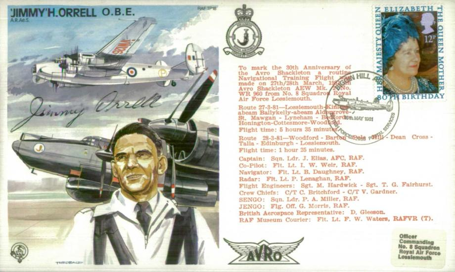 Jimmy H Orrell the Test Pilot cover Sgd Jimmy Orrell