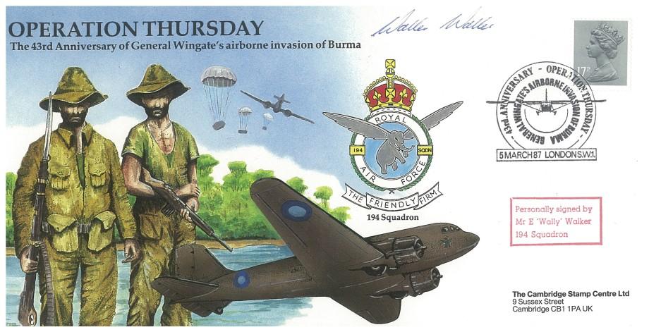 Operation Thursday cover Sgd E Wally Walker of 194 Sq