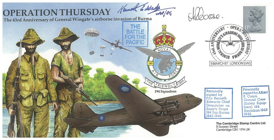 Operation Thursday cover Sgd K Edwards and A R Coare
