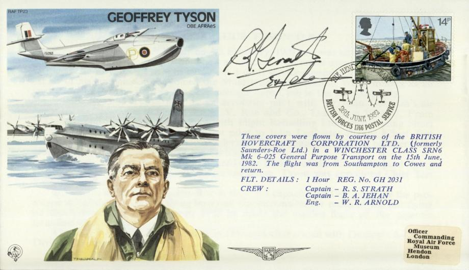 Geoffrey Tyson the Test Pilot cover Sgd R S Strath and B A Jehan