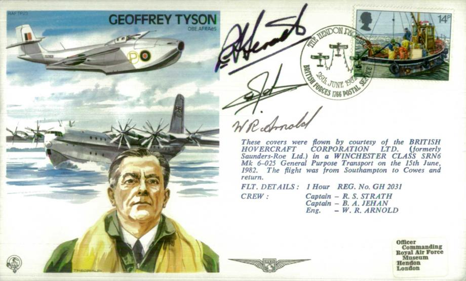 Geoffrey Tyson the Test Pilot cover Sgd crew