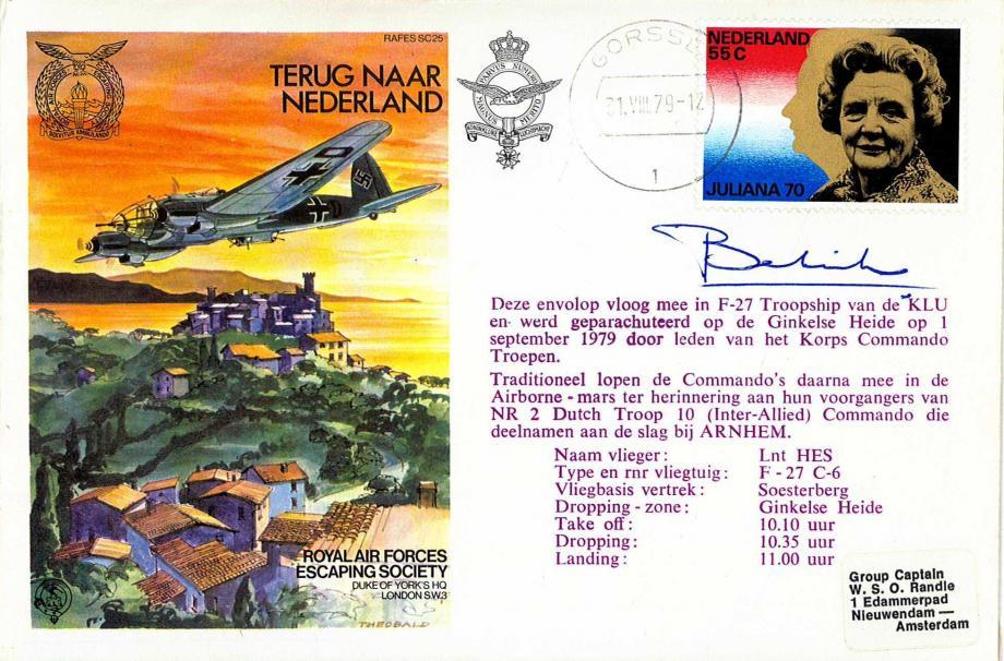 Terug Naar Nederland cover Sgd Baron J Bentnick