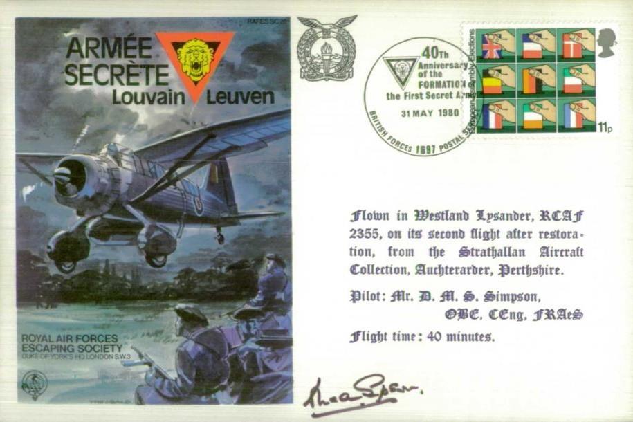 Armee Secrete Cover Signed D M S Simpson