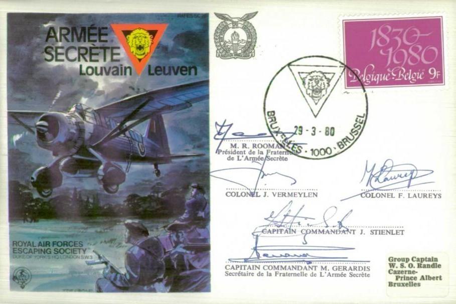 Armee Secrete cover Sgd 5 members of Secret Army