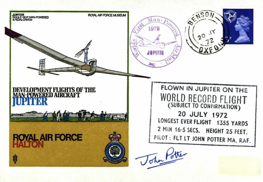 RAF Halton cover Sgd John Potter