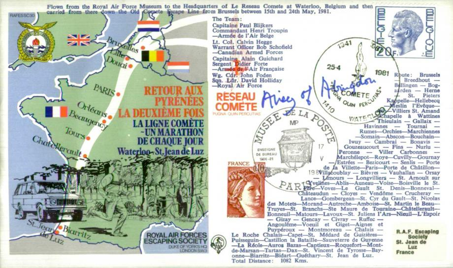 Retour Aux Pyrenees cover Sgd Baroness Airey of Abingdon