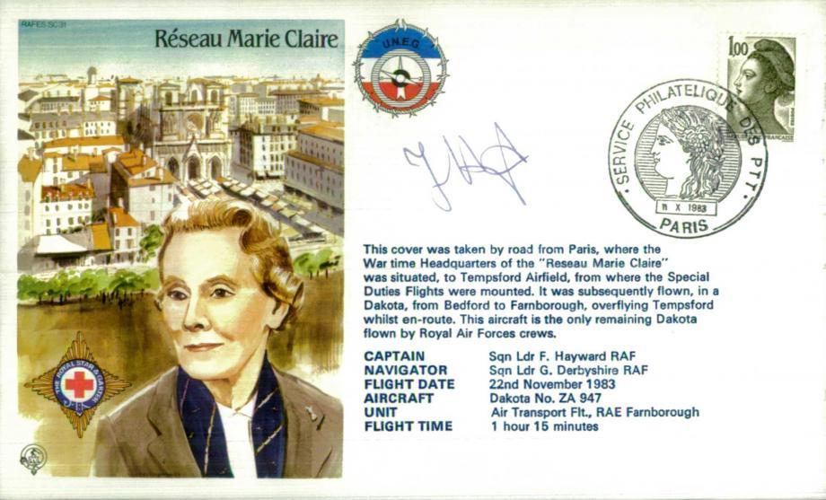 Reseau Marie Claire cover Sgd Captain L F Hayward