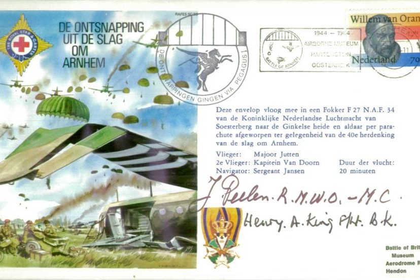 Arnhem cover Sgd J Peelen and Fl Lt King