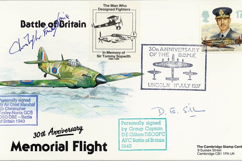 Battle Of Britain Cover Signed BoB Pilots C Foxley-Norris And D E Gillam