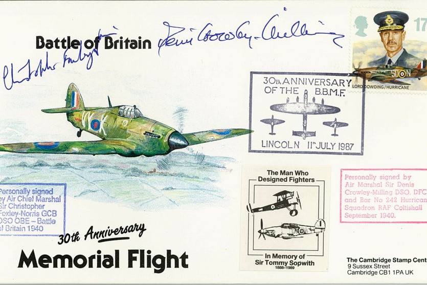 Battle Of Britain Cover Signed BoB Pilots C Foxley-Norris And D Crowley-Milling