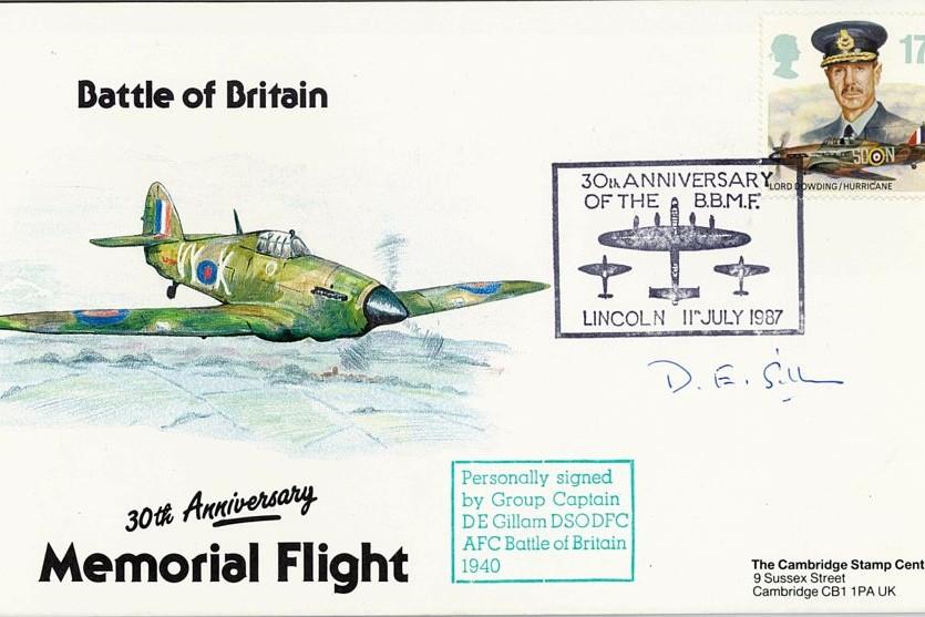 Battle Of Britain Cover Signed BoB Pilot D E Gillam