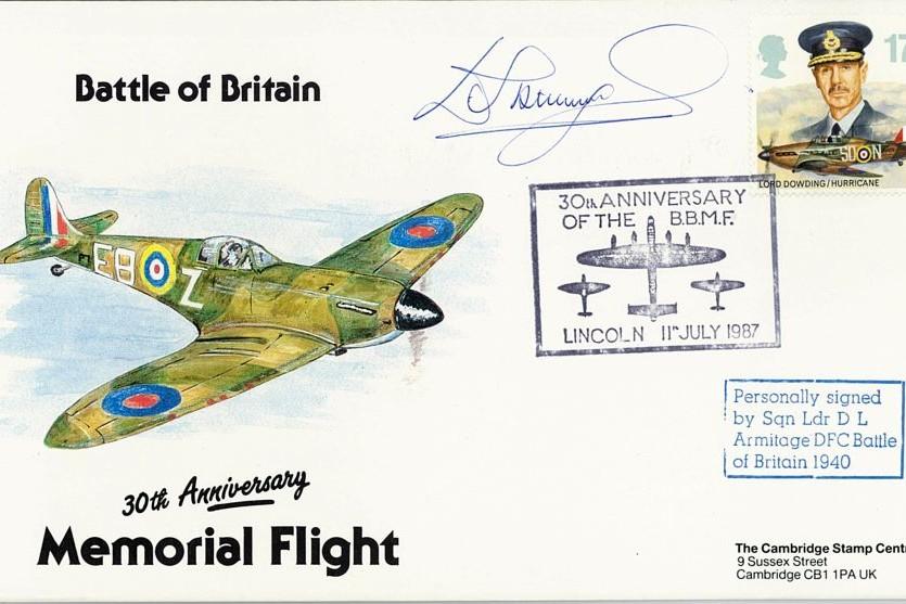 Battle Of Britain Cover Signed BoB Pilot D L Armitage