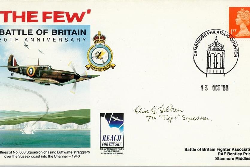 Battle Of Britain Cover Signed BoB Pilot  C  G Hilken
